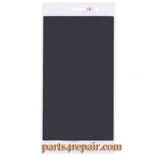 Complete Screen Assembly for Huawei Ascend P7 -White
