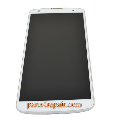 Complete Screen Assembly with Bezel for LG G Pro 2 D838 (for Asia) -White