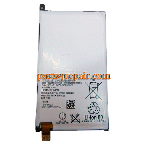 2300mAh Built-in Battery for Sony Xperia Z1 Compact mini (Used)