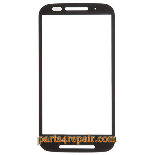 Front Glass for Motorola Moto E XT1021 -Black