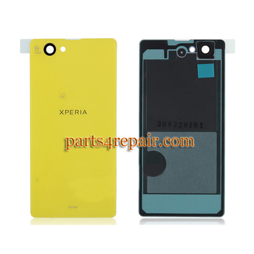 Back Cover OEM for Sony Xperia Z1 Compact mini -Yellow(Japan Version)