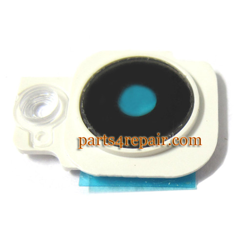 Camera Cover & Lens for HTC One M7 -White