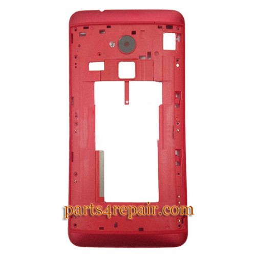Middle Cover for HTC One Max -Red