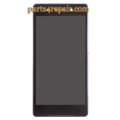 Complete Screen Assembly with Bezel for Sony Xperia Z2 -Purple