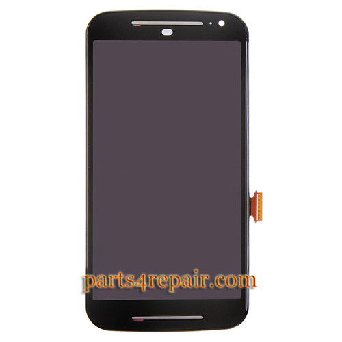 Complete Screen Assembly with Bezel for Motorola Moto G2 -Black
