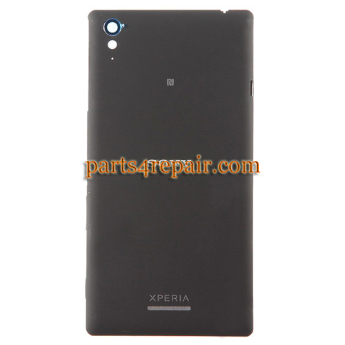 Back Cover with Side Keys for Sony Xperia T3 -Black
