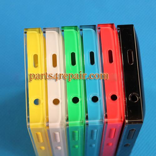 Back Cover with Side Keys for Nokia Asha 500 -Black