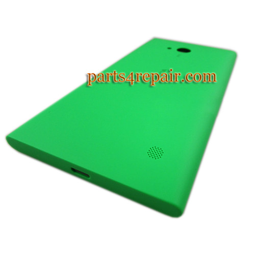 Back Cover with Wireless Charging Coil for Nokia Lumia 730 -Green