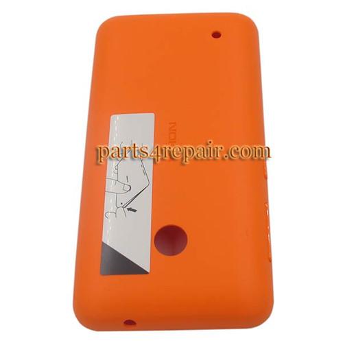 Back Cover with Side Keys for Nokia Lumia 530 -Orange