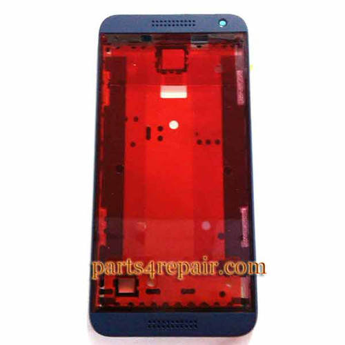 Front Housing Cover with Side Keys for HTC Desire 610 -Blue