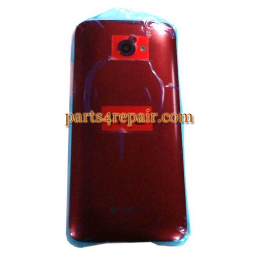 Back Housing Cover with Side Keys for HTC Butterfly S -Red