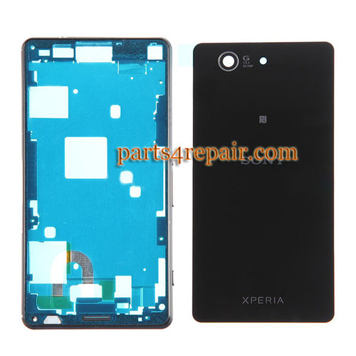 Full Housing Cover for Sony Xperia Z3 Compact mini -Black