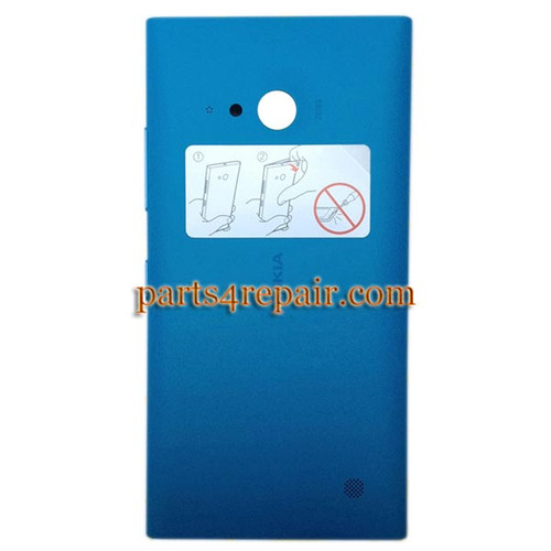 Back Cover with Wireless Charging Coil for Nokia Lumia 730 -Blue