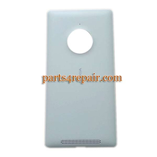 Back Cover with Wireless Charging Coil for Nokia Lumia 830 -White