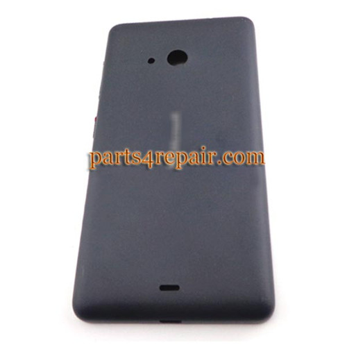 Back Cover with Side Keys for Microsoft Lumia 535 -Black (Matte Surface)