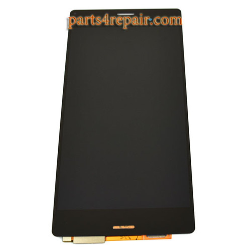 Complete Screen Assembly for Sony Xperia Z3 -Black (Refurbished)