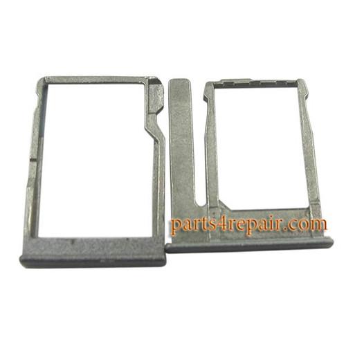 SIM Tray & TF Card Tray for HTC One miini 2 -Gray
