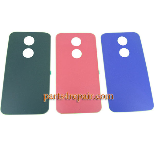 Back Cover with Adhesive for Motorola Moto X2 -Purple