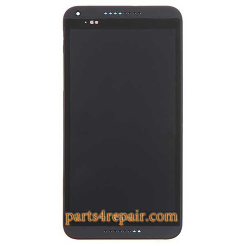 Complete Screen Assembly with Bezel for HTC Desire 816 -Black