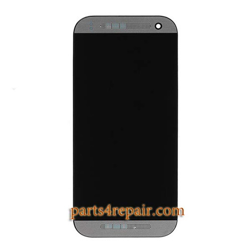 Complete Screen Assembly with Bezel for HTC One mini 2 -Gray