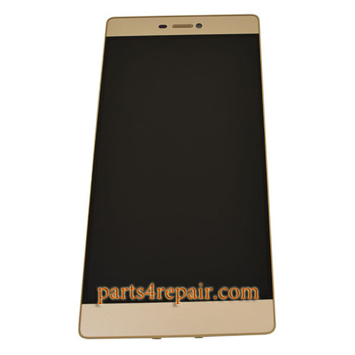 Complete Screen Assembly with Bezel for Huawei P8 -Gold
