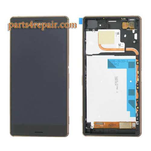 Complete Screen Assembly with Bezel for Sony Xperia Z3 Dual D6633 from www.parts4repair.com