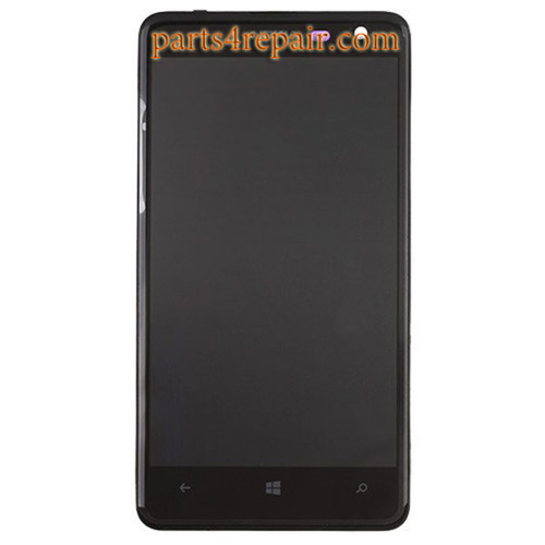 Complete Screen Assembly with Bezel for Nokia Lumia 625 from www.parts4repair.com