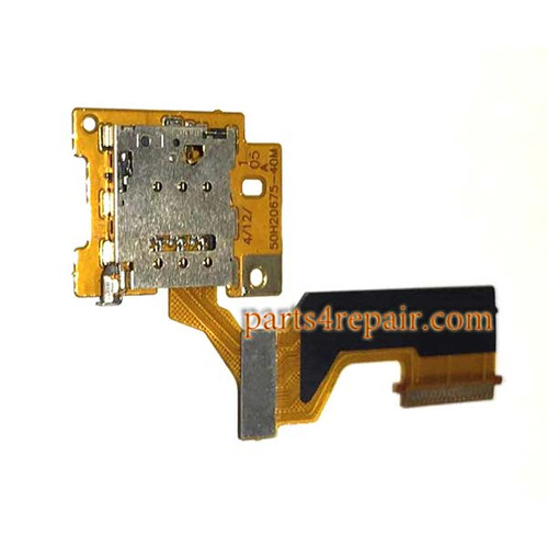 SIM Connector Flex Cable for HTC One M9 from www.parts4repair.com