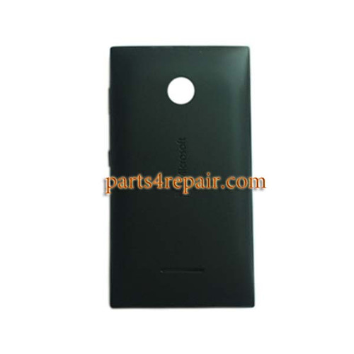 Back Cover with Side Keys for Microsoft Lumia 435 -Black