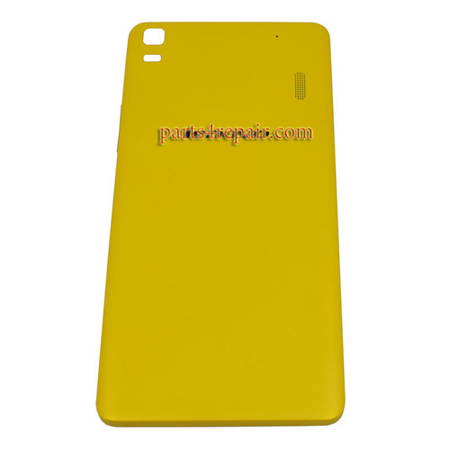 Back Cover with Side Keys for Lenovo K3 Note (K50-T5) -Yellow