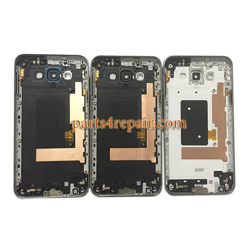 Back Housing Cover with Side keys for Samsung Galaxy E7 SM-E700 -Black