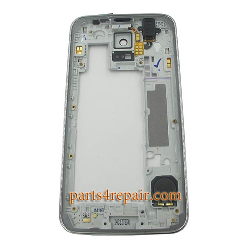Middle Housing Cover for Samsung Galaxy S5 G900A -White