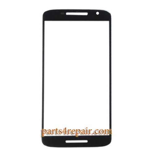 "Front Glass for Motorola X Play 5.5"" -Black"