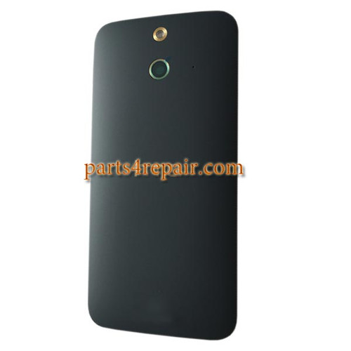 Back Cover with Power Button for HTC One E8 -Black