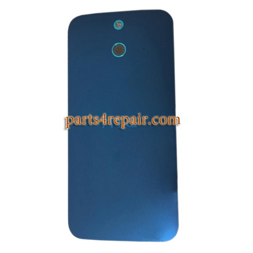 Back Cover with Power Button for HTC One E8 -Blue