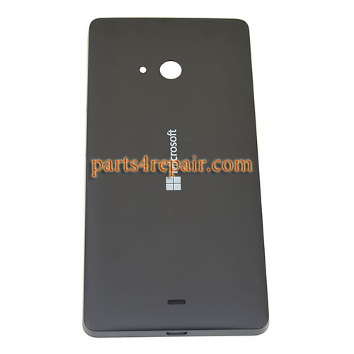 Back Cover with Side Keys for Microsoft Lumia 540 Dual SIM -Black