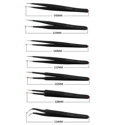 7pcs/set Anti-Static ESD Plastic Precision Tweezers Pick Tools for Cellphone Tablet Motherboard repair