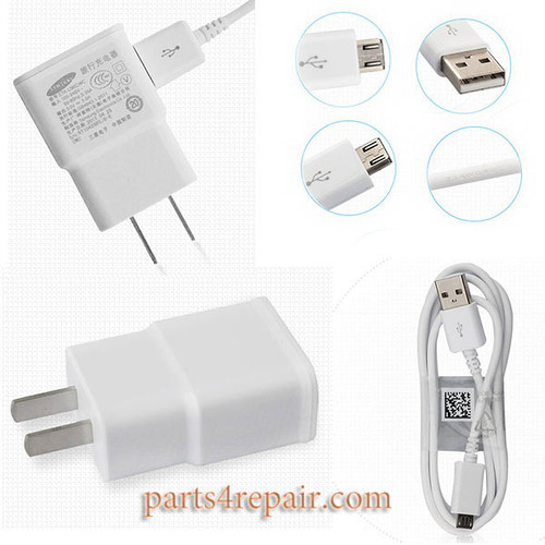 Charger and 1m USB Cable for Samsung Galaxy S6 / S6 Edge All Version
