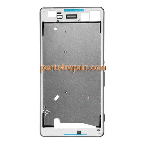 Front Housing Cover with Side Keys for Sony Xperia M5 E5603 E5606 E5653 -White