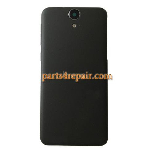 Back Cover with Side Keys for HTC One E9 -Black