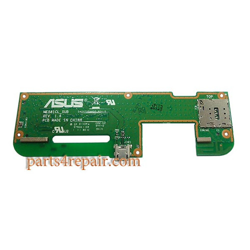 Dock Charging PCB Board for Asus Memo Pad 8 ME581CL from www.parts4repair.com