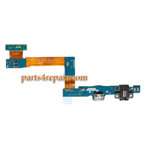 Dock Charging Flex Cable with Earphone Jack for Samsung Galaxy Tab A 9.7 T550 (WIFI Version)