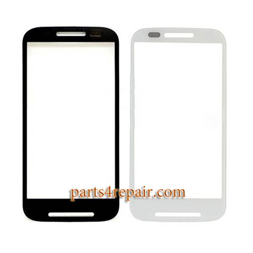 Front Glass for Motorola Moto E XT1021 -White