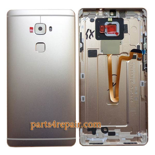 Back Housing Cover with Fingerprint Flex Cable for Huawei Mate S -Gold