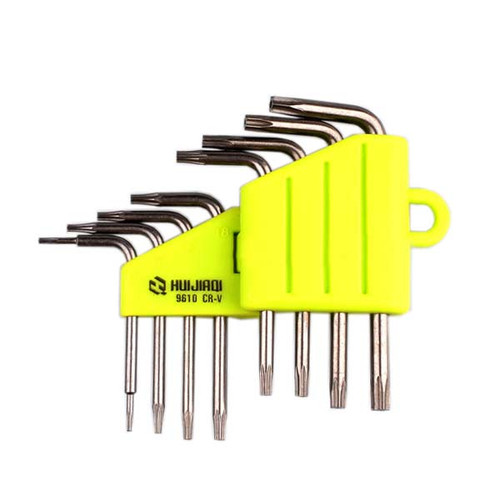 8pcs/set Torx Crv Key Star Wrench Tool Screwdriver T5 T6 T7 T8 T9 T10 T15 T20