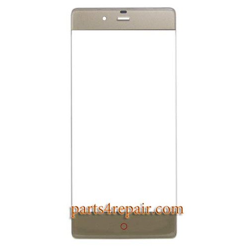 Front Glass for ZTE Nubia Z9 NX508J -Gold