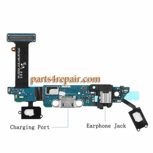 Dock Charging Flex Cable for Samsung Galaxy S6 G920A from www.parts4repair.com