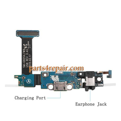 Dock Charging Flex Cable for Samsung Galaxy S6 Edge G925A from www.parts4repair.com