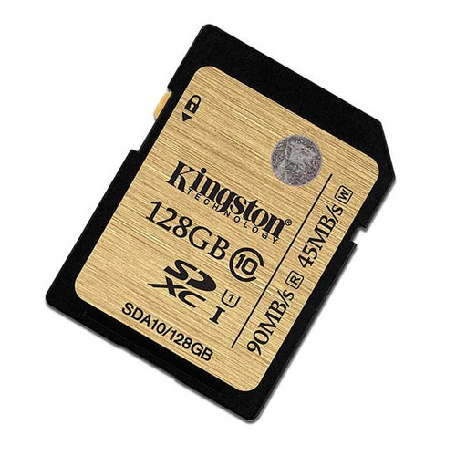 Kingston 128GB SDXC Memory Card 90MB/S Read 45MB/S Write UHS-I Flash Card