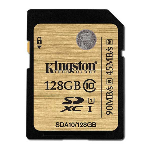 Kingston 128GB SDXC Memory Card 90MB/S Read 60MB/S Write UHS-I Flash Card